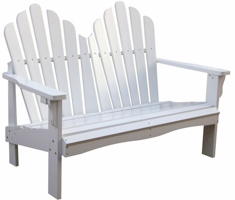 Shine Company Westport Adirondack Loveseat (4681) - [price] | The Adirondack Market