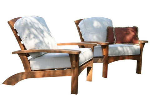 Douglas Nance Augusta Deep Seating Teak Club Chair with Sunbrella Cushions - [price] | The Adirondack Market