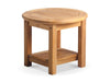"Image of Douglas Nance Classic 21"" Round Adirondack Side Table with Bottom Shelf - [price] 