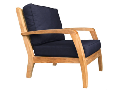 Douglas Nance Somerset Deep Seating Teak Club Chair - [price] | The Adirondack Market