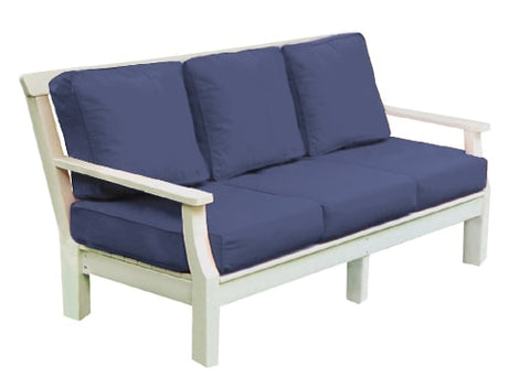 Seaside Casual Nantucket Deep Seating Sofa with Sunbrella Cushions - [price] | The Adirondack Market