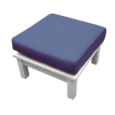 Seaside Casual Nantucket Deep Seating Ottoman with Sunbrella Cushion - [price] | The Adirondack Market