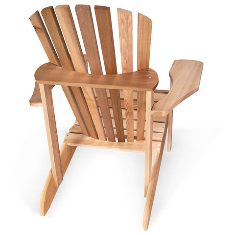 All Things Cedar Adirondack Chair and Ottoman Set (AAO21) — In stock order now!