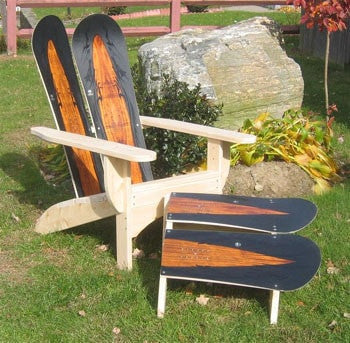 ... Adirondack Snowboard Chair With Ottoman By Skichair   [price] | The  Adirondack Market ...