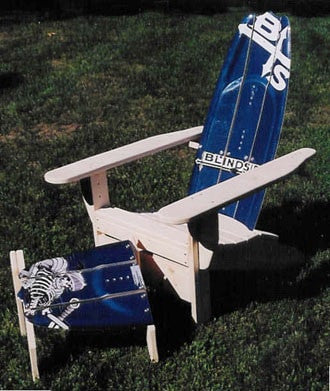 Adirondack Wakeboard Chair with Ottoman by SkiChair - Current estimated delivery time 6-8 weeks
