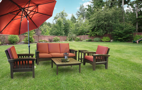 Hershy Way Five-Piece Amish Deep Seating Set with Sunbrella Cushions — Order now for October Delivery!