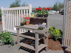 Image of Wood Country Cedar Deluxe Potting Bench — Order now for Spring planting