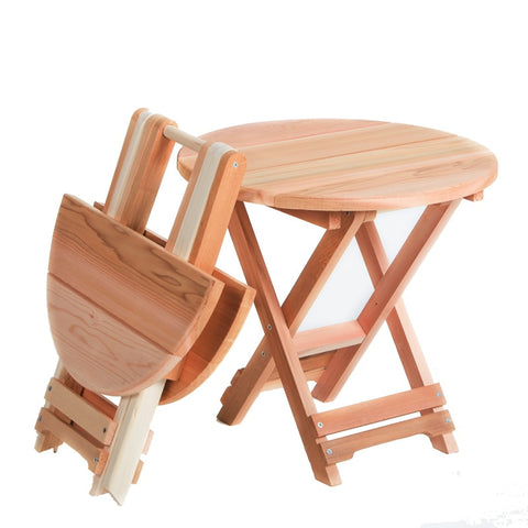 All Things Cedar Folding Adirondack Table - [price] | The Adirondack Market