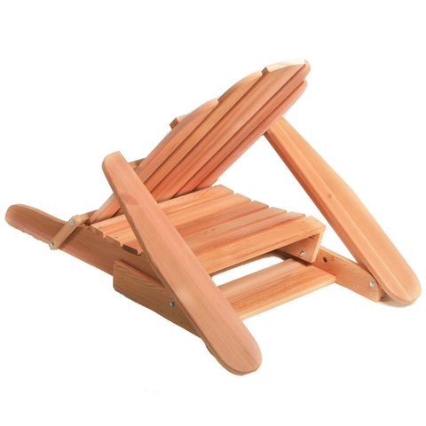 All Things Cedar Folding Adirondack Chair - [price] | The Adirondack Market