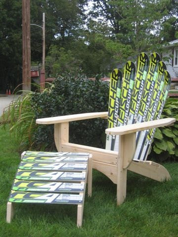 Adirondack Snow Ski Chair with Ottoman - Current estimated delivery time 6-8 weeks