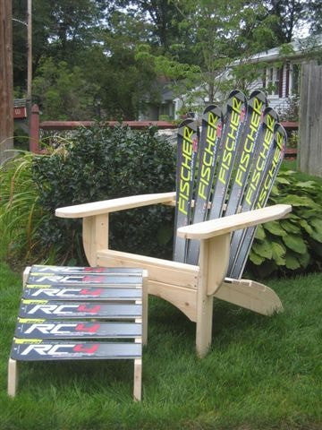 Adirondack Snow Ski Chair with Ottoman - [price] | The Adirondack Market