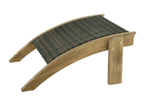 Douglas Nance Bahama2 Teak/Wicker Adirondack Footrest - [price] | The Adirondack Market