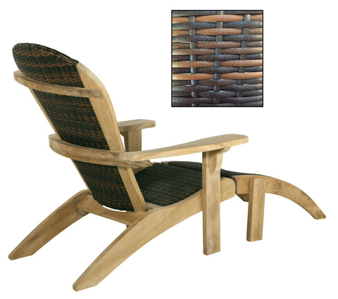Douglas Nance Bahama2 Teak/Wicker Adirondack Teak Chair - [price] | The Adirondack Market