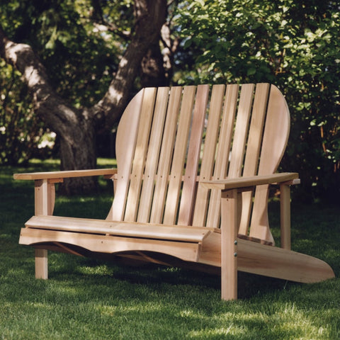 All Things Cedar Adirondack Loveseat - [price] | The Adirondack Market