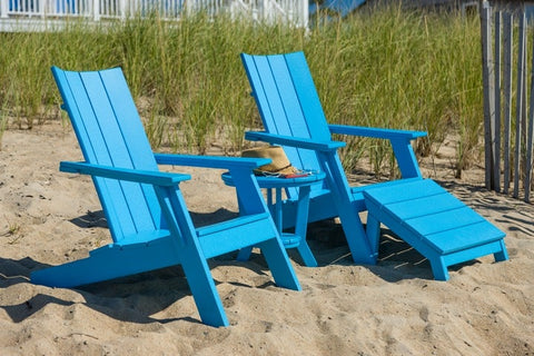 Seaside Casual 3-Piece MADirondack Two Chair and Side Table Set — Extended Delivery Times — Please call (970) 235-1495 for estimated delivery dates