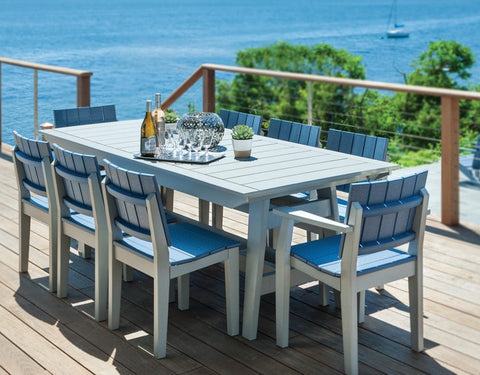 Seaside Casual MAD Fusion Dining Side Chair with Solid Back and Seating Areas - [price] | The Adirondack Market