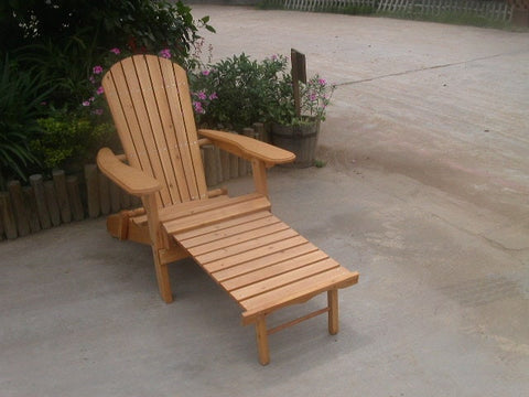 Merry Products Cedar Adirondack Folding Chair with Ottoman - [price] | The Adirondack Market