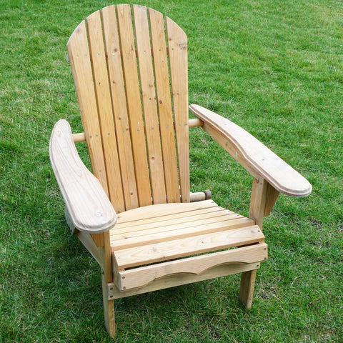 Merry Products Folding Adirondack Chair Kit — Canadian Hemlock Fir