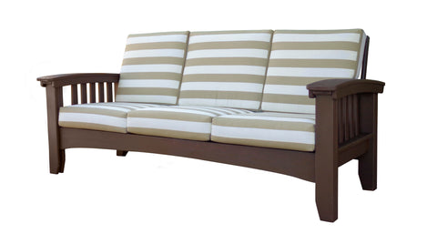 Hershy Way Amish Deep Seating Sofa with Sunbrella Cushions - [price] | The Adirondack Market
