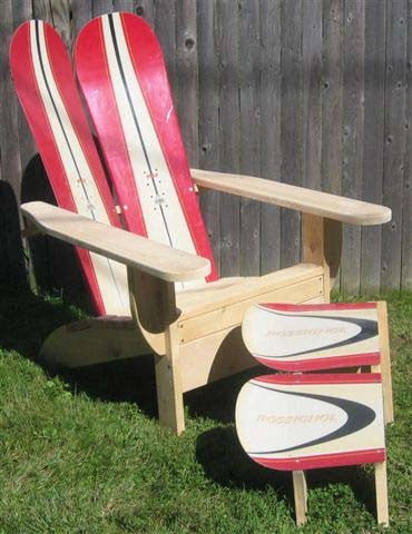Adirondack Snowboard Chair With Ottoman By Skichair   [price] | The  Adirondack Market ...
