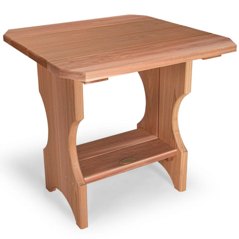 All Things Cedar Three-Piece Adirondack Chair and Side Table Set (ST24-Set) — In stock order now!
