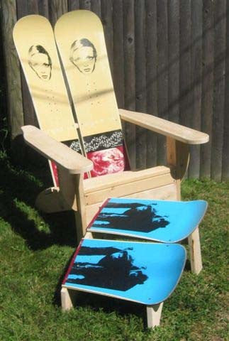 Adirondack Snowboard Chair with Ottoman by Skichair - [price] | The Adirondack Market