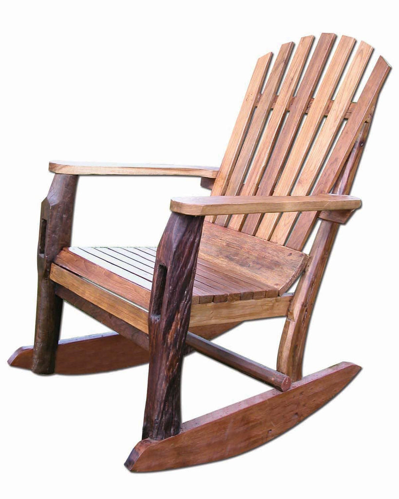 Groovystuff Recycled Teak Adirondack Rocking Chair   [price] | The  Adirondack Market ...