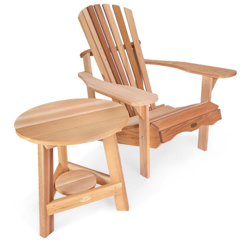 All Things Cedar Two-Piece Adirondack Chair and Tripod Table Set (TP22-Set) — In stock order now!