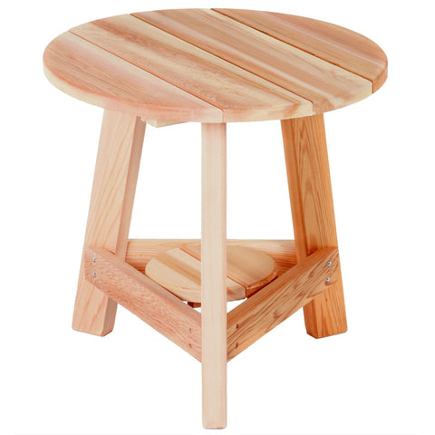 All Things Cedar Tripod Occasional Table - [price] | The Adirondack Market