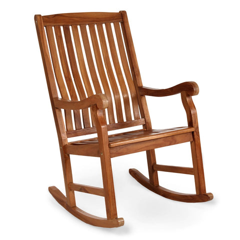 All Things Cedar Teak Rocking Chair (TR22) — Order now for immediate shipping!
