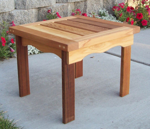Wood Country Cedar T&L Adirondack End Table - [price] | The Adirondack Market