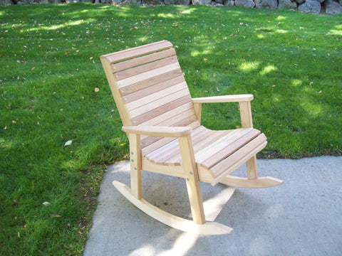 Wood Country Cedar T&L Adirondack Rocker - [price] | The Adirondack Market