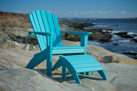 Coastline Casual Harbor View Foot Stool (341) - [price] | The Adirondack Market
