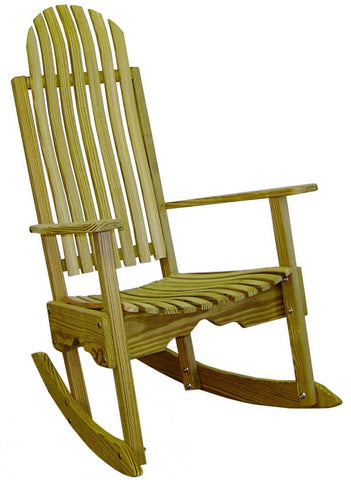 Hershy Way Treated Yellow Pine Outdoor Rocking Chair - [price] | The Adirondack Market