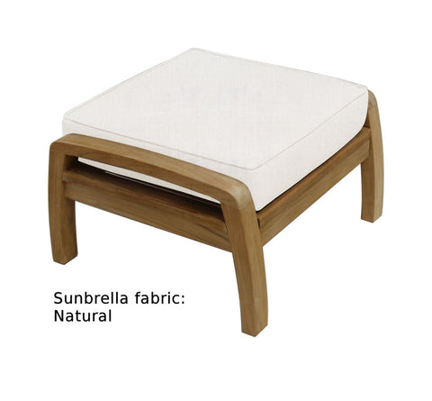 Douglas Nance Somerset Deep Seating Teak Ottoman - [price] | The Adirondack Market