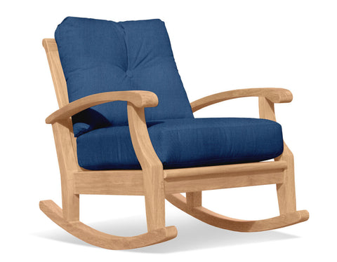 Douglas Nance Cayman Deep Seating Teak Club Rocker — In stock, order now!