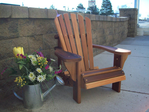 Wood Country Cedar T&L Children's Adirondack Chair - [price] | The Adirondack Market