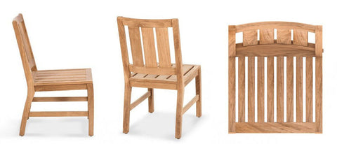 Douglas Nance Somerset Indonesian Teak Dining Side Chair - [price] | The Adirondack Market
