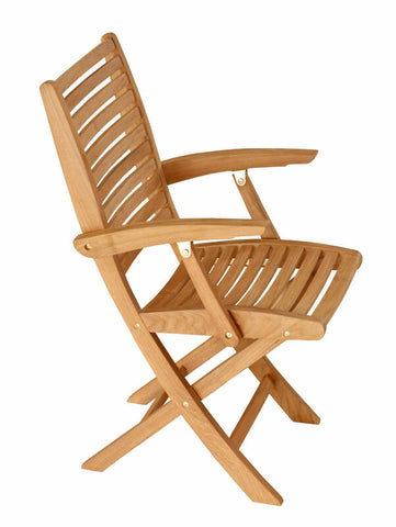 Douglas Nance Bali Indonesian Teak Folding Dining Armchair (Set of Two) - [price] | The Adirondack Market