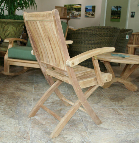 Douglas Nance Classic Folding Indonesian Teak Dining Armchair (Set of Two) - [price] | The Adirondack Market