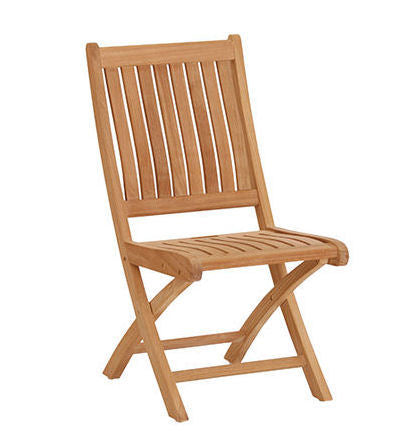 Douglas Nance Classic Folding Indonesian Teak Dining Side Chair (Set of Two) - [price] | The Adirondack Market