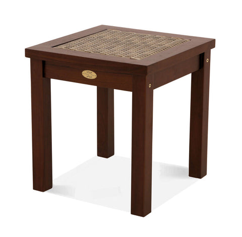 Douglas Nance Bahama Teak/Wicker Adirondack Side Table - [price] | The Adirondack Market
