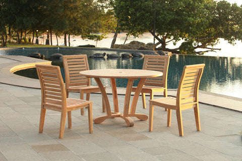 Douglas Nance Cayman Indonesian Teak Dining Side Chair — In stock, order now!