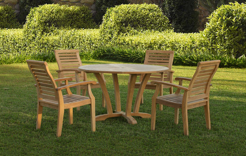 "Douglas Nance Cayman 48"" Round Indonesian Teak Dining Table - [price] 