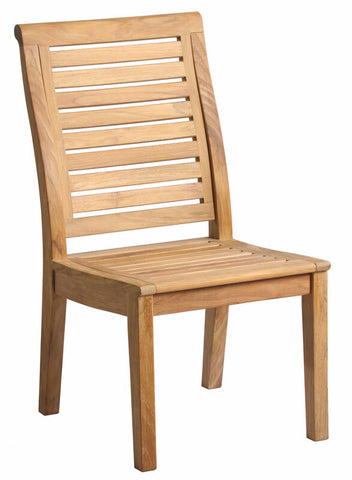 Douglas Nance Cayman Indonesian Teak Dining Side Chair - [price] | The Adirondack Market