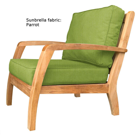 Douglas Nance Somerset Deep Seating Teak Club Chair — Order now for November delivery