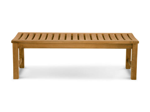 Douglas Nance Classic 5' Indonesian Teak Backless Bench — In stock, order now!