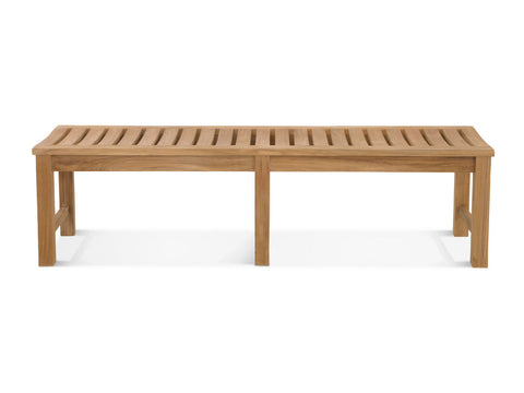 Douglas Nance Classic 6' Indonesian Teak Backless Bench — In stock, order now!