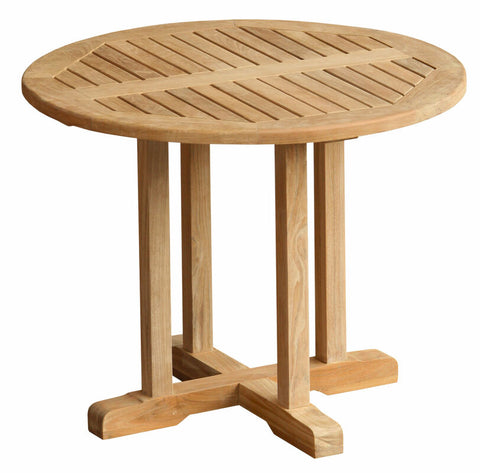 "Douglas Nance Classic 36"" Round Indonesian Teak Balcony Table - [price] 