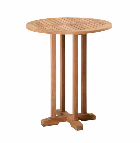 "Douglas Nance Classic 36"" Round Indonesian Teak Bar Table - [price] 
